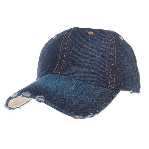 Aniywn Hot Sale! Summer Fashion Cowboy Jean Sport Hat Casual Denim Baseball Cap Sunhat (Free Size, (Denim Cowboy Hat)