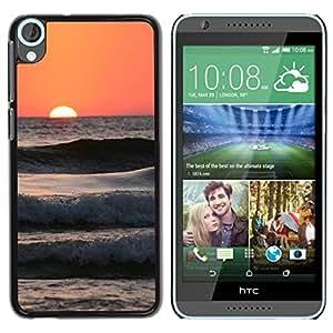 TopCaseStore / la caja del caucho duro de la cubierta de protección de la piel - Peach Beach Surf Sun Summer Waves - HTC Desire 820