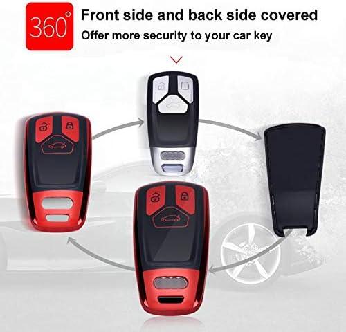 Funda de Silicona para Llave Audi – Cover Carcasa de TPU Cromo ...