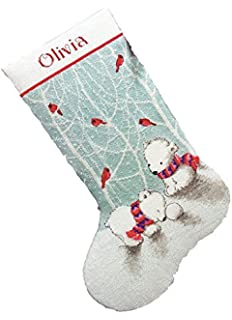 Amazon dimensions needlecrafts counted cross stitch candy cane dimensions crafts counted cross stitch stocking snow bears 16 inch solutioingenieria Images