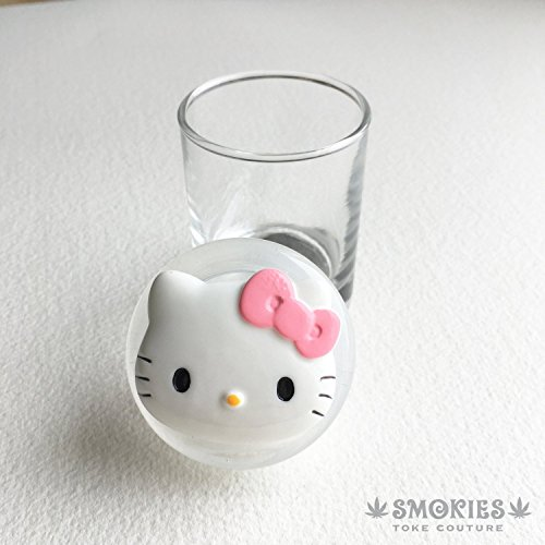 Stash jar, KITTY CAT, embellished, kawaii,weed jar, glass stash jar, cute, stoner gift, girly gift women upscale cannabis Marijuana - Upscale Women