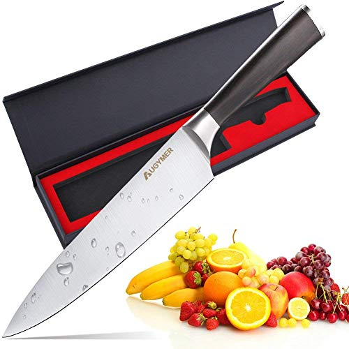 Chef Knife, AUGYMER 8 Inch Professional Chefs Knife High Carbon Stainless Steel Kitchen Sharp Chefs Knife (AU7CG03) ()