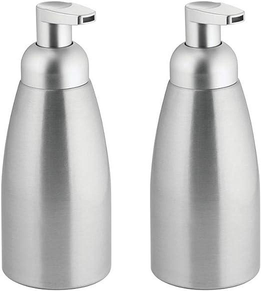 mDesign Modern Metal Foaming Soap Dispenser Pump Bottle for Kitchen Sink  Countertop, Bathroom Vanity, Utility/Laundry Room, Garage - Save on Soap -  ...