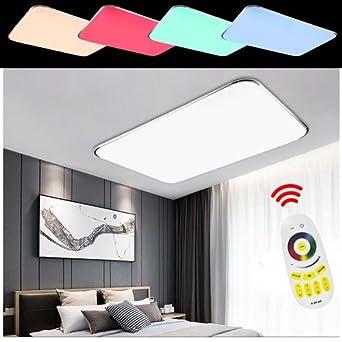 HengdaR LED Wohnzimmer Deckenleuchte 90W RGB Esszimmer Lichtfarbe Und Helligkeit Einstellbar IP44 Badezimmer Geeignet