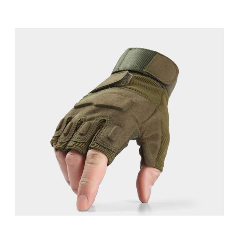 Llsdls Ski-Handschuhe, Halbe Fingerhandschuhe, Atmungsaktiv Rutschfeste Handschuhe tens für Camping Wandern Radfahren Reiten Motorrad Radfahren Jagd (größe : L)