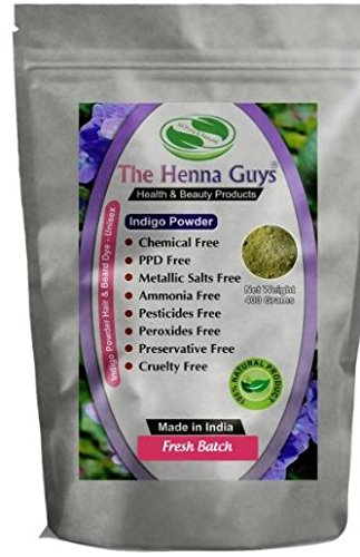 400 Grams Indigo Powder For Hair Dye / Color - Chemicals Free Hair Color - The Henna Guys