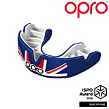 OPRO Power-Fit Countries Mouthguard | Adult Handmade Gum Shield for Football, Rugby, Hockey, Wrestling, and Other Combat and Contact Sports - 18 Month Dental Warranty (Ages 10+) (UK)