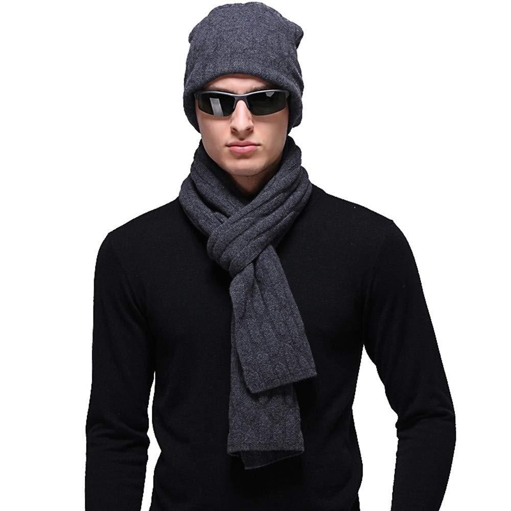 JIUZHOUCAI Herbst- und Winter-Herrenschals haben einen zweiteiligen Anzug in Volltonfarbe