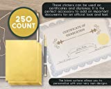 250 Award Stickers - Gold Certificate