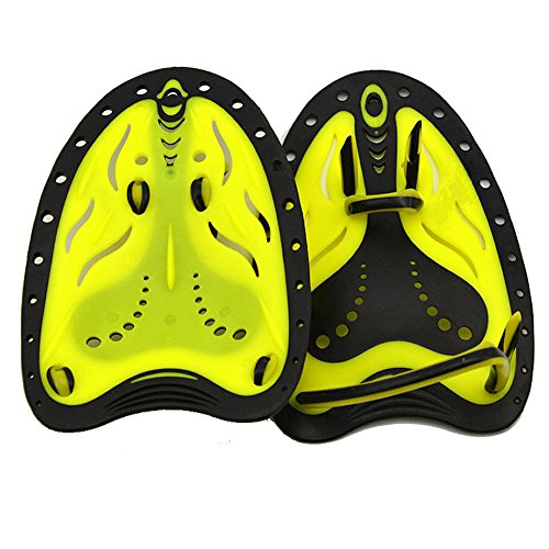 Swimming Hand Paddles Webbed Gloves for Swim Training S Yellow - 6