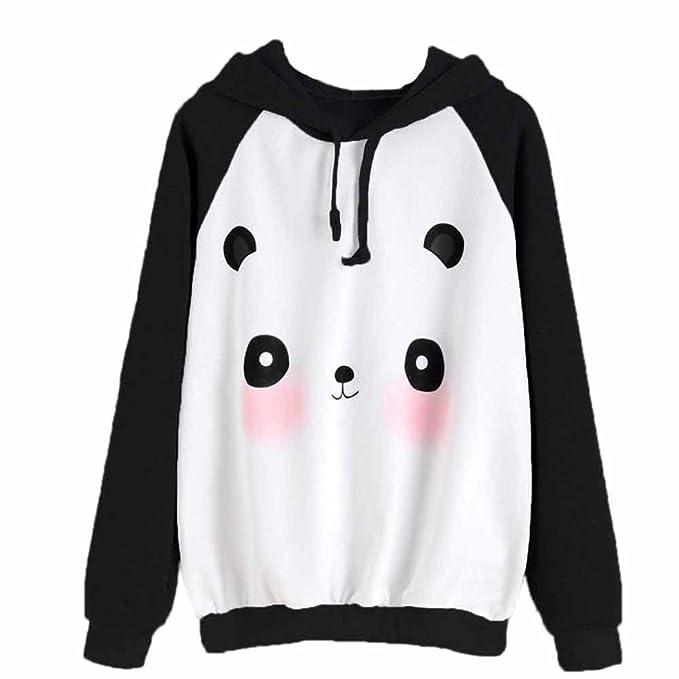 KaloryWee Sudadera para niña de dibujos animados panda estampado sudadera jersey de jersey blusa, Sudadera para Mujer: Amazon.es: Ropa y accesorios