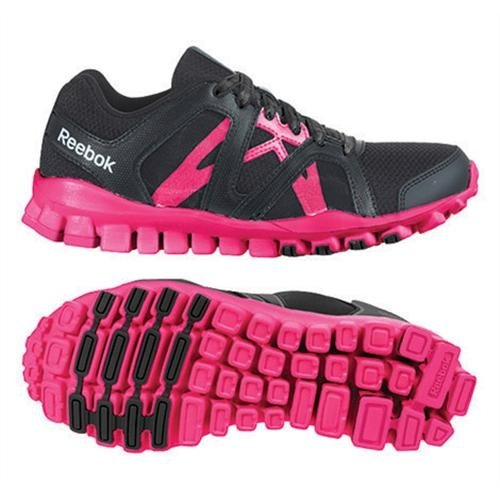 Reebok Realflex Train RS 2.0 - Zapatillas de cross training unisex, color negro / rosa, talla 23.5