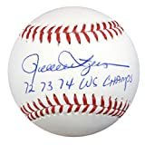 "ROLLIE FINGERS AUTOGRAPHED OFFICIAL MLB BASEBALL OAKLAND A'S ""72 73 74 WS CHAMPS"" PSA/DNA STOCK #83616"