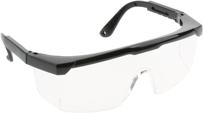 Gafas Protectoras Ajustables de Laboratorio Herramientas Eléctricas Suministros de Trabajo Fabril - Lente clara, marco negro