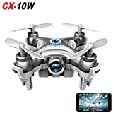 Cheerson CX-10W Real Time Wifi FPV Android / iOS Mini Quadcopter RC 4CH 2.4GHz 6 Axis Nano Drone HD Video Camera (Silver)