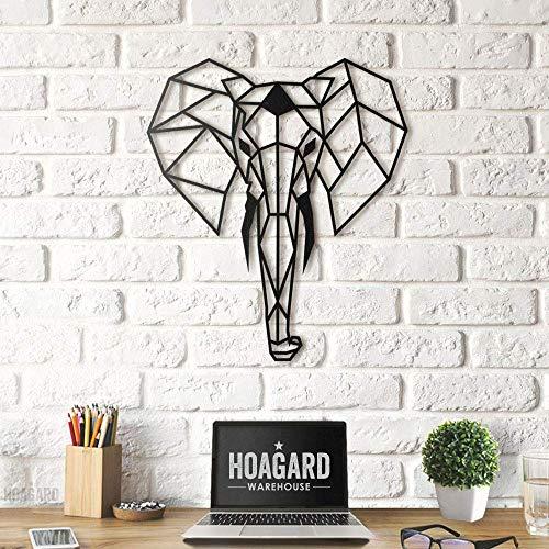 - Hoagard Elephant Metal Wall Art 45cm x 52cm   Geometric Metal Wall Art & Wall Decoration