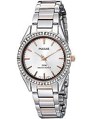 Pulsar Womens PH8129X Analog Display Analog Quartz Two Tone Watch