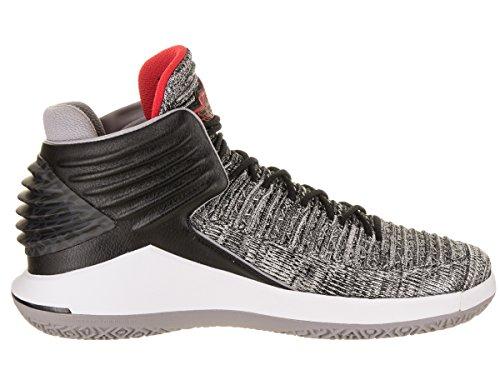 Nike Mens Air Jordan Xxxii Nero Tessile / Sintetico Scarpe Da Basket Nero (nero / Bianco / Grigio Lupo / Università Rosso)