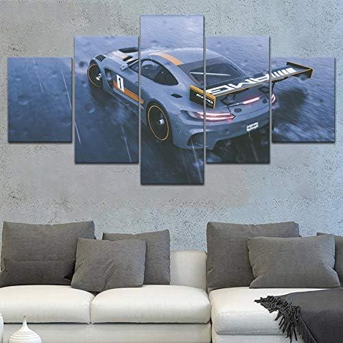 juntop Toile HD Impressions Peintures Mur Artwork 5 Pi/èces /Équipage Mercedes Affiche Modulaire Photos pour Salon Moderne D/écoration de La Maison-Pas de Cadre Posters