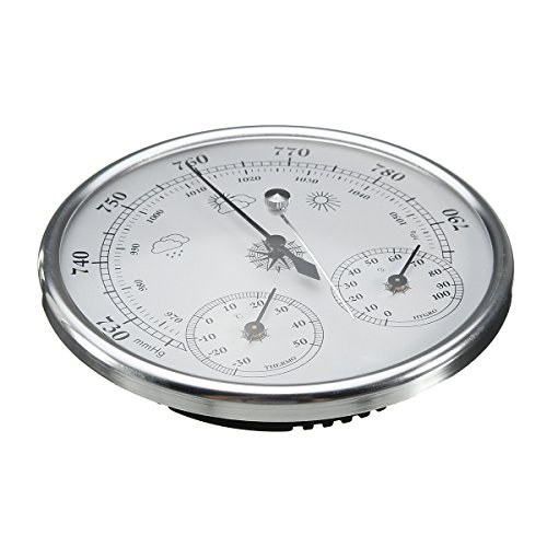 INNI Wall Hanging Weather Forecast Thermometer Hygrometer Air Pressure Meter-30~+50 0~100% Rh 960~1060hPa by INNI (Image #6)