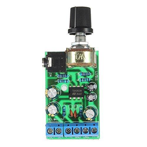 TOOGOO(R) DC1.8-12V TDA2822M Amplifier 2.0 Channel Stereo 3.5mm Audio Amp Board Module ()