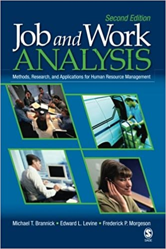 Amazon com: Job and Work Analysis: Methods, Research, and