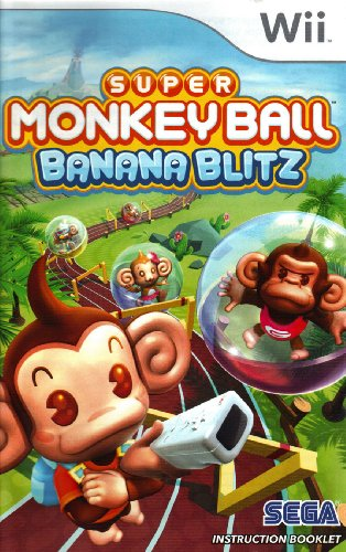 Super Monkey Ball - Banana Blitz Wii Instruction Booklet (Nintendo Wii Manual Only - NO GAME) [Pamphlet only - NO GAME INCLUDED] Nintendo