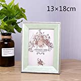 Huhgue Photo Frame 10×15cm Picture Frame Retro Style Poster Frame for Home Decoration (Green)
