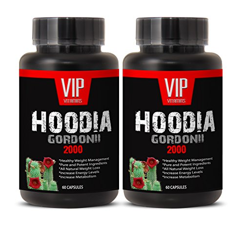 Weight loss pills - POWERFUL HOODIA GORDONII 2000 Mg - Hoodia gordonii pure - Hoodia gordonii pills - 2 Bottles 120 Tablet