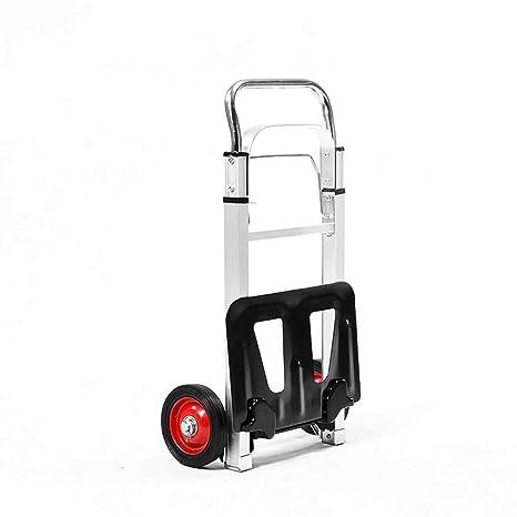 YUAN-trolley Carro de Equipaje Plegable de aleación de Aluminio con Dos Ruedas para Coche