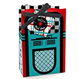 50's Sock Hop - 1950s Rock N Roll Party Favor Boxes - Set of 12