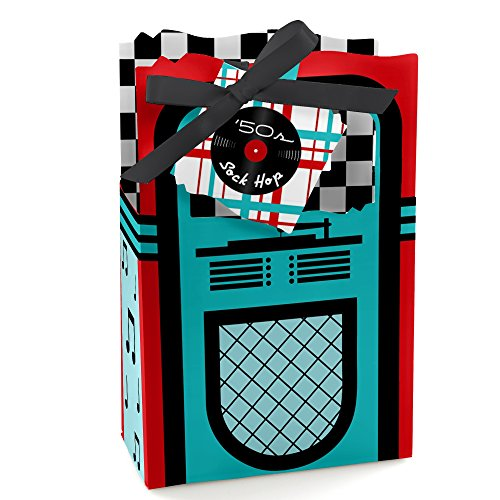 50's Sock Hop - 1950s Rock N Roll Party Favor Boxes - Set of 12]()