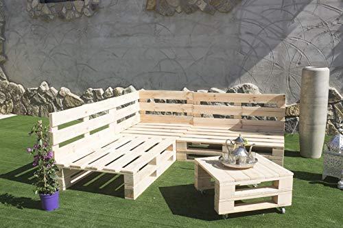 Conjunto RINCONERA con PALETS Europeos + Mesa,Interior/Exterior NUEVOS A ESTRENAR 2m X 1,2m