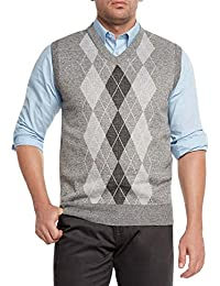 Men's Argyle V-Neck Sweater Vest