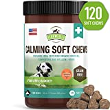 Strawfield Pets Calming Treats for Dogs Anxiety Relief - 120 Soft Chews - Stress Relief for Dog Separation Anxiety, Natural Calm Aid Supplement for Barking, Aggressive, Motion Sickness, Thunder, USA