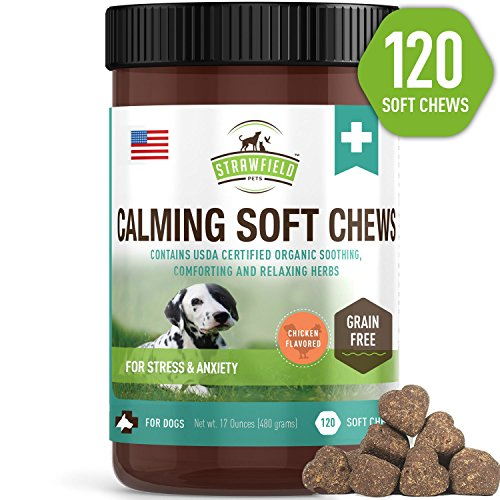 Calming Treats for Dogs - 120 Chews, Grain-Free...