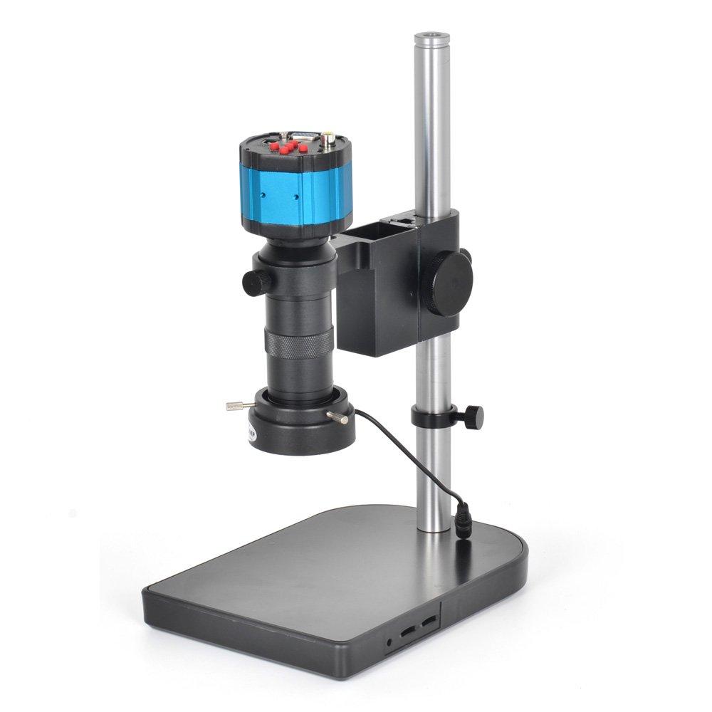 Digital VGA AV TV Industry Lab Microscope Camera Kit C-Mount Lens LED Light Source Stand