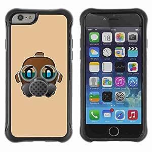 "A-type Arte & diseño Anti-Slip Shockproof TPU Fundas Cover Cubre Case para 4.7"" iPhone 6 ( Funny Gas Mask Illustration )"