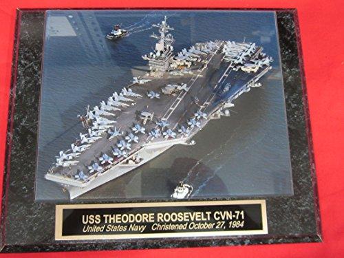 US Navy USS THEODORE ROOSEVELT CVN-71 Collector Plaque w/8x10 Photo! ()