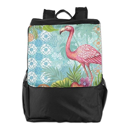 School HSVCUY Backpack Outdoors Dayback Men Adjustable for Flamingo Personalized Camping Women and Storage Travel Strap Pink Shoulder xXSnrX4