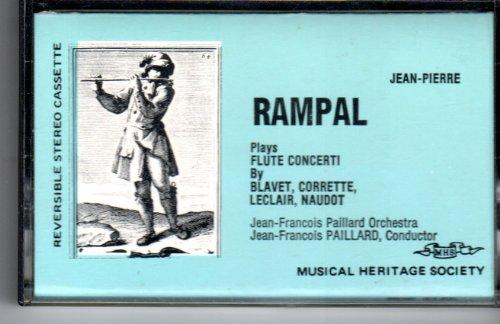 Jean-Pierre Rampal, Plays Flute Concerti By Blavet, Corrette, LeClair, Naudot, Jean-Francois Pailard Orchestra, Jean-Francois Pailard, Conductor. Audio Cassette