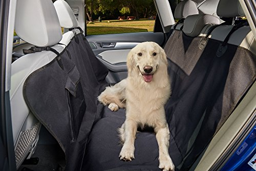Wag Mat Dog Seat Cover Pet Seat Cover Car Seat Cover for Dogs by 100% Waterproof Deluxe Heavy Duty Sturdy Canvas | Hammock Design Easy Installation for Cars SUV Trucks | Machine Washable (Non-Skid)