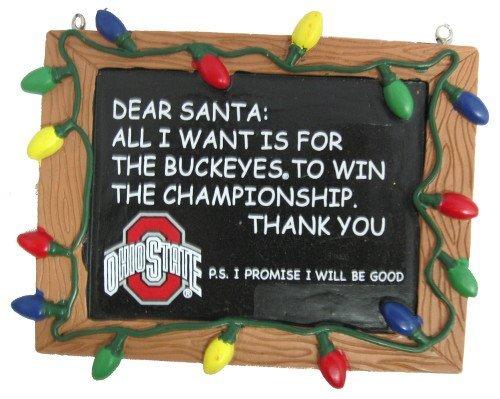FOCO Ohio State Resin Chalkboard Sign Ornament