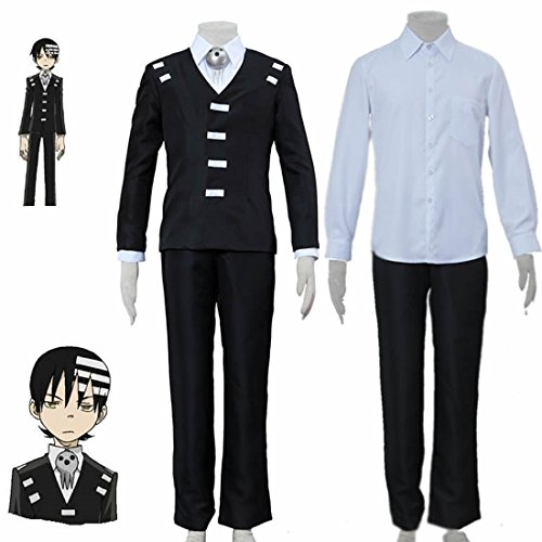 Love Anime Cosplay Costume Uniform-Death The Kid 4Pcs Set -