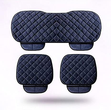 General Protector Cover Anti-Skid Pad Mat Front /& Back Set Black YwewY Car Seat Cushion 3PCs