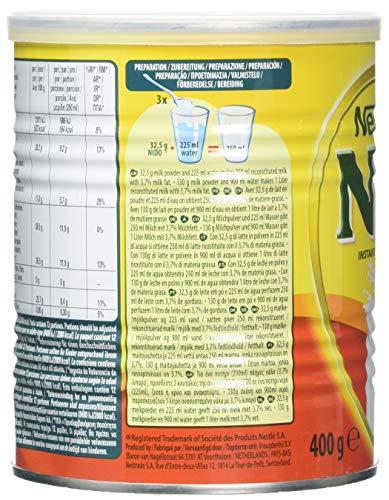 Nestle Nido Milk Powder 400 g (Pack of 6) - Buy Online in