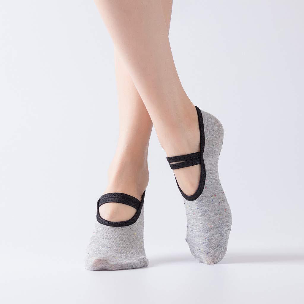 Madmoon Damen 1 Paar Rutschfest Yoga Socken Rutschsicherer Sport Ballett Tanzsocken Ballerina Invisible F/ü/ßlinge Anti Rutsch Socken Stoppersocken Noppensocken