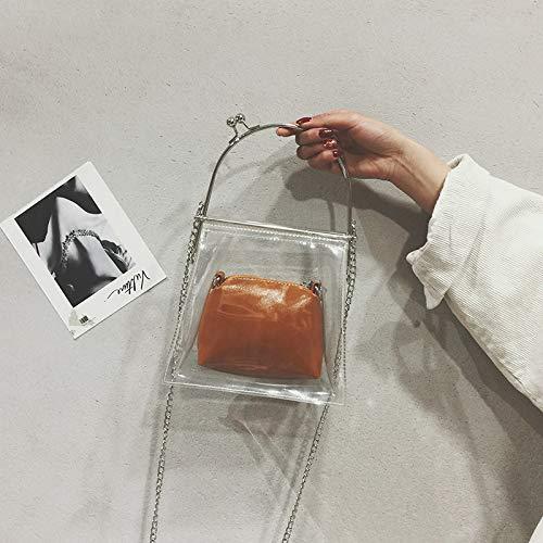 Super tracolla borsa ragazza marrone piccola femminile bag bianca borsa jelly catena tracolla WSLMHH ragazza fire bag personalità daUq8zd7vW