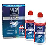 Clear Care Plus Cleaning and Disinfecting Solution with Lens Case 32 oz (2 Pack of 16 oz Each)