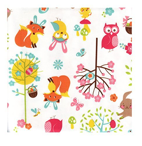 Easter Woodland Friends Peva Vinyl Tablecloth 60 Round Flannel Backed